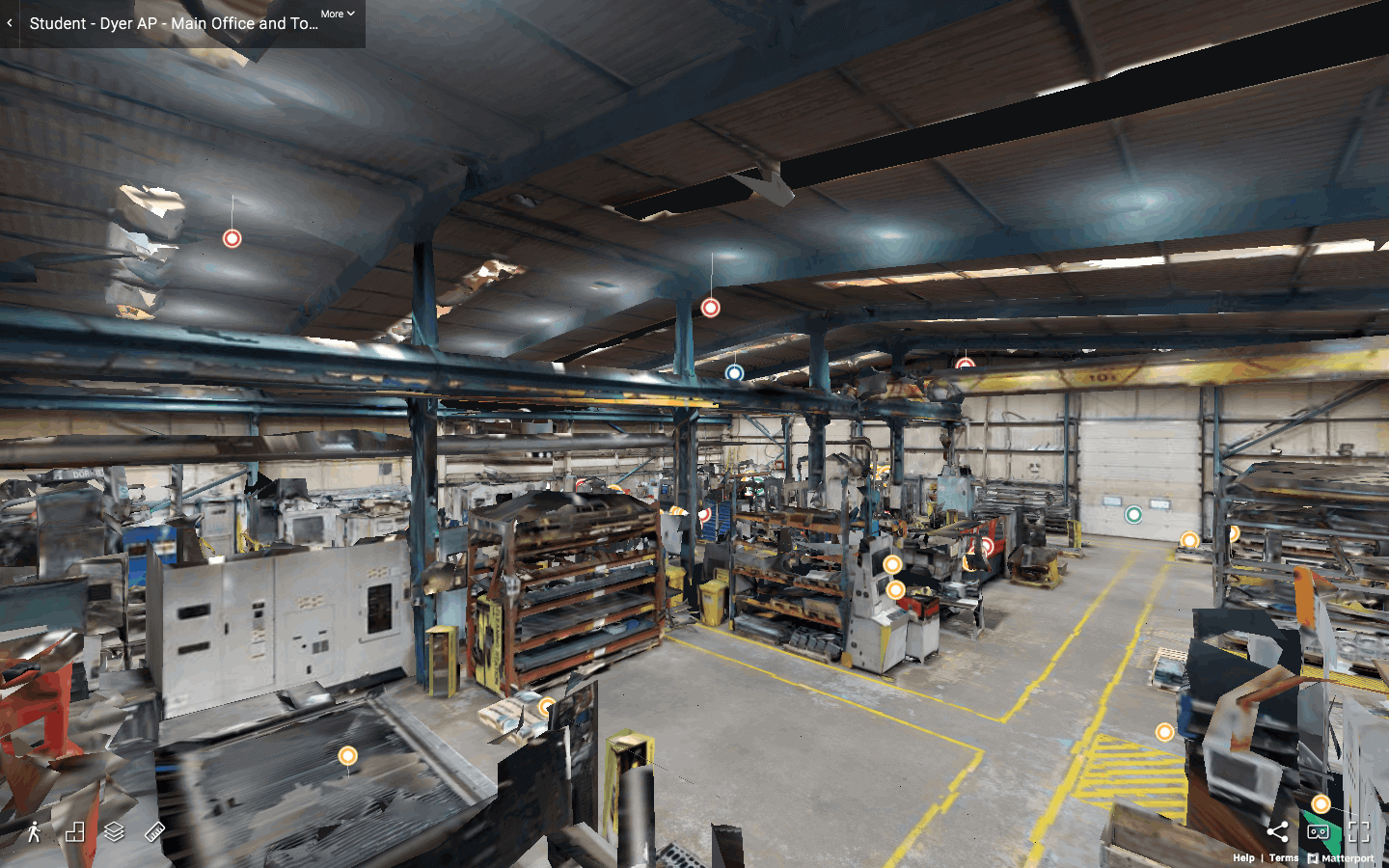 360 virtual tour of Dyer Engineering