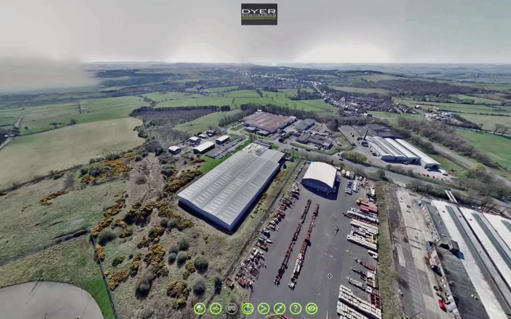 Aerial view of Dyer Engineering
